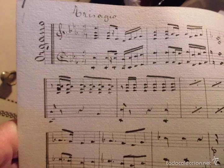 Partituras musicales: PARTITURA MANUSCRITA INEDITA TRISAGIO AL SANTISIMO. DE B. T. 10 PAGS CIRCA 1900 - Foto 4 - 56596113