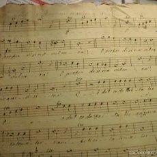 Partituras musicales: PARTITURA MANUSCRITA TIPLE CIRCA 1860 . Lote 56641438