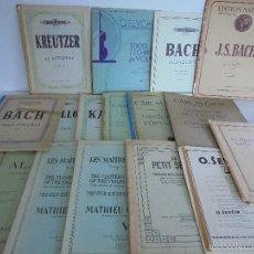 Partituras musicales: ESTUDIOS PARA VIOLIN. 17 LIBROS. TODOS ESTAN FOTOGRAFIADOS. VER FOTOGRAFIAS ADJUNTAS.. Lote 56668974