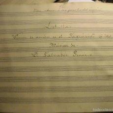 Partituras musicales: MANUSCRITO SALVADOR GINER VIDAL VALENCIA PARTITURA INEDITA PRISION DE AMORES ES EN SAGRARIO 1899. Lote 56675806