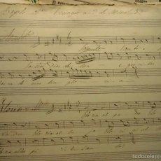 Partituras musicales: PARTITURA MANUSCRITA TIPLE 2º CIRCA 1860 TRISAGIO DE MENCHUEL. Lote 56706232