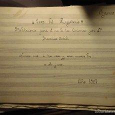 Partiture musicali: MANUSCRITO 1917 FRANCISCO ANTICH ORGANISTA VALENCIA PARTITURA MANUSCRITA ECOS DE PURGATORIO INEDITA. Lote 56740119