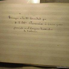 Partituras musicales: PARTITURA MANUSCRITA J BAUTISTA PLASENCIA TRISAGIO PREMIADO CONGRESO EUCARISTICO VALENCIA CORO. Lote 56748863