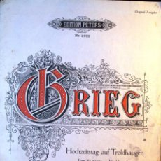 Partituras musicales: PARTITURA ORIGINAL *GRIEG, OP. 65 NR. 6* -EDITION PETERS-. Lote 56810621