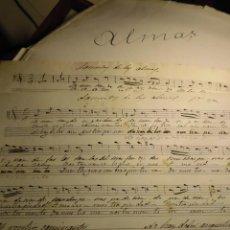 Partituras musicales: VALENCIA 1890 PARTITURAS ANTIGUAS MANUSCRITAS LAMENTO DE ALMAS MUSICA SACRA 1ª Y 2ª VOZ DESCONOCIDO. Lote 56966908
