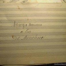 Partituras musicales: PARTITURA MANUSCRITA TRISAGIO MARIANO A 3 V. DE MENCHUE CIRCA 1890. Lote 56974040