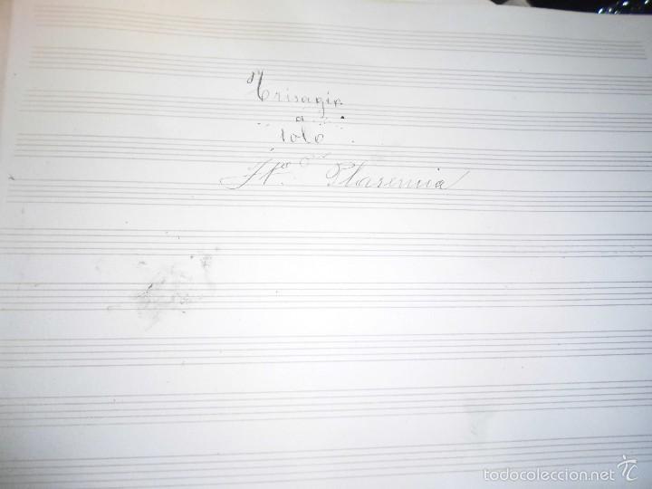 PARTITURA ANTIGUA MANUSCRITA CIRCA 1900 J B PLASENCIA TRISAGIO A SOLO (Música - Partituras Musicales Antiguas)