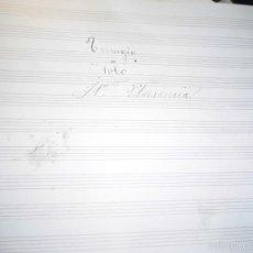 Partituras musicales: PARTITURA ANTIGUA MANUSCRITA CIRCA 1900 J B PLASENCIA TRISAGIO A SOLO. Lote 56988192