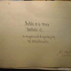 Partituras musicales: PARTITURA ANTIGUA MANUSCRITA INEDITA CIRCA 1900 MENCHUCH MOTETE A 6 V. 18 PGS FIRMA ROGLÁ. Lote 57083005