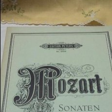 Partituras musicales: MOZART SONATEN- EDITION PETERS Nº 3315 - PARTITURA. Lote 57084835