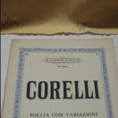 Partituras musicales: CORELLI FOLLIA CON VARIAZIONI- VIOLÍN & PIANO - ANGENERS EDITION- PARTITURA. Lote 57084858