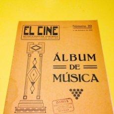 Partituras musicales: ALBUM DE MUSICA EL CINE NUMERO 22, DEL 1 DE OCTUBRE DE 1918. Lote 57112916