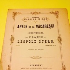 Partituras musicales: DOS PARTITURAS DE LEOPOLD STERN. Lote 57243510