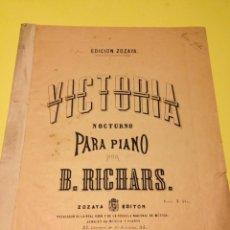 Partituras musicales: PARTITURAS DE DOS OBRAS PARA PIANO DE B. RICHARDS.. Lote 57244236