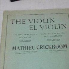 Partituras musicales: PARTITURA THE VIOLIN-EL VIOLIN POR MATHEU CRICKBOOM Nº IV. Lote 57297986