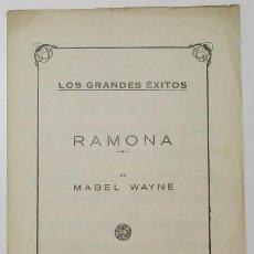 Partituras musicales: RAMONA - MABEL WAYNE. Lote 57325595