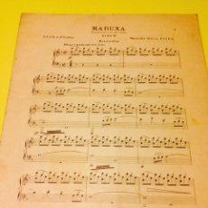 Partituras musicales: PARTITURA DE MARUXA. Lote 57335269