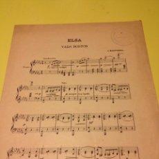 Partituras musicales: PATITURA DE ELSA, VALS BOSTON. Lote 57335291