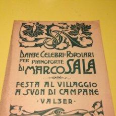 Partituras musicales: PARTITURA DE MARCO SALA. Lote 57335331
