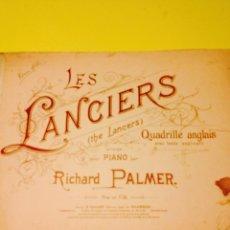 Partituras musicales: PARTITURA DE LES LANCIERS, DE RICHARD PALMER.. Lote 57335538