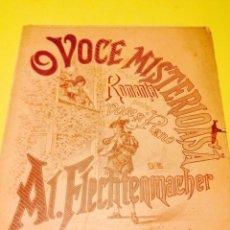 Partituras musicales: PARTITURA DE O VOCE MISTERIOSA.. Lote 57335590
