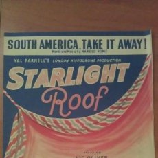 Partituras musicales: SOUUTH AMERICA, TAKE IT AWAY - LONDON. Lote 57583561