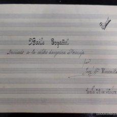 Partituras musicales: PARTITURA MUSICAL A LA CELEBRE DANZARINA MARUJA. Lote 57808941