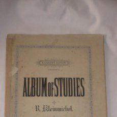 Partituras musicales: RICHARD KLEINMICHEL ALBUM OF STUDES PARTITURAS. Lote 58157959