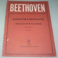 Partituras musicales: BEETHOVEN -- ZONGORASZANÁTA -- SONATE FÜR KLAVIER.. Lote 58385872