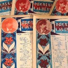 Partiture musicali: ALBENIZ SUITE ESPAÑOLA: GRANADA, CATALUÑA, SEVILLA, ASTURIAS, ARAGON, CUBA (6 PARTITURA DE 8).. Lote 58606469