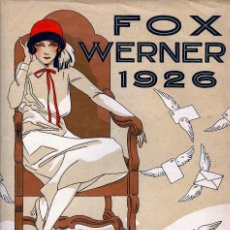 Partituras musicales: FOX WERNER 1926, PARTITURA DOBLE HOJA 25X34CM FOX MOVIDO AUTOR J. DEMON. PORTADA BELLE EPOQUE. Lote 58676389