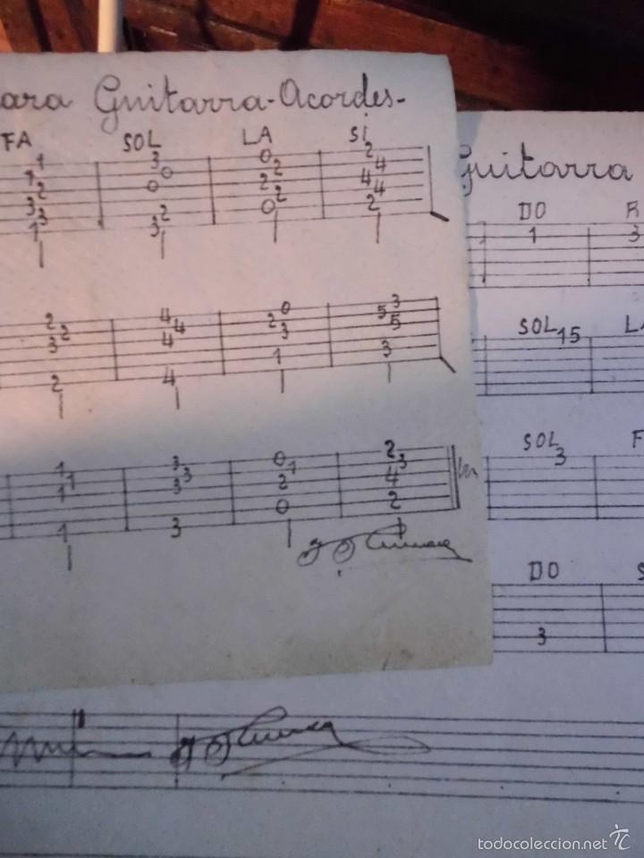 GUITARRA ANTIGUA PARTITURA MAN USCRITA FIRMADA CIRCA 1900 (Música - Partituras Musicales Antiguas)