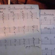 Partituras musicales: GUITARRA ANTIGUA PARTITURA MAN USCRITA FIRMADA CIRCA 1900. Lote 58845426