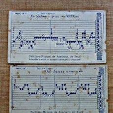 Partituras musicales: LOTE DE 9 PARTITURAS MUSICALES PARA ARMÓNICA DE BOCA.LA TORRE.. Lote 59923935