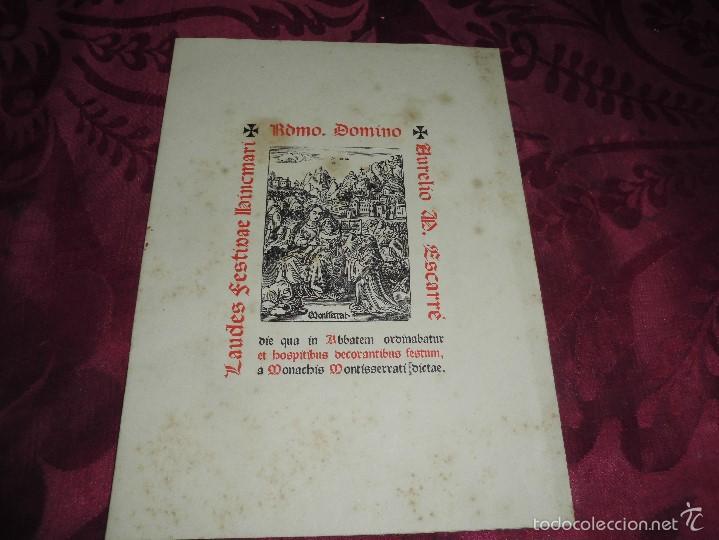 MAGNIFICO LAURES BINCMARI DEL 1941,EDICION DE SOLO 300 EJEMPLARES,DE MONTSERRAT (Música - Partituras Musicales Antiguas)