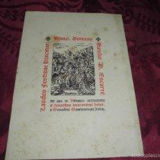 Partituras musicales: MAGNIFICO LAURES BINCMARI DEL 1941,EDICION DE SOLO 300 EJEMPLARES,DE MONTSERRAT. Lote 61076679