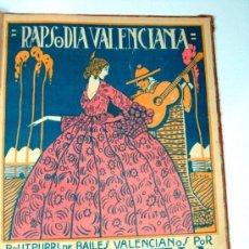 Partituras musicales: ANTIGUA PARTITURA RAPSODIA VALENCIANA. PENELLA. VALENCIA. Lote 61625336