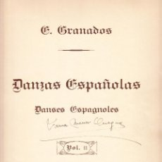 Partituras musicales: E GRANADOS - DANZAS ESPAÑOLAS VOL. II - UNION MUSICAL ESPAÑOLA. Lote 61929668