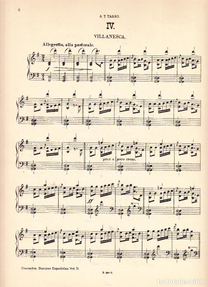 Partituras musicales: E GRANADOS - DANZAS ESPAÑOLAS VOL. II - UNION MUSICAL ESPAÑOLA - Foto 2 - 61929668