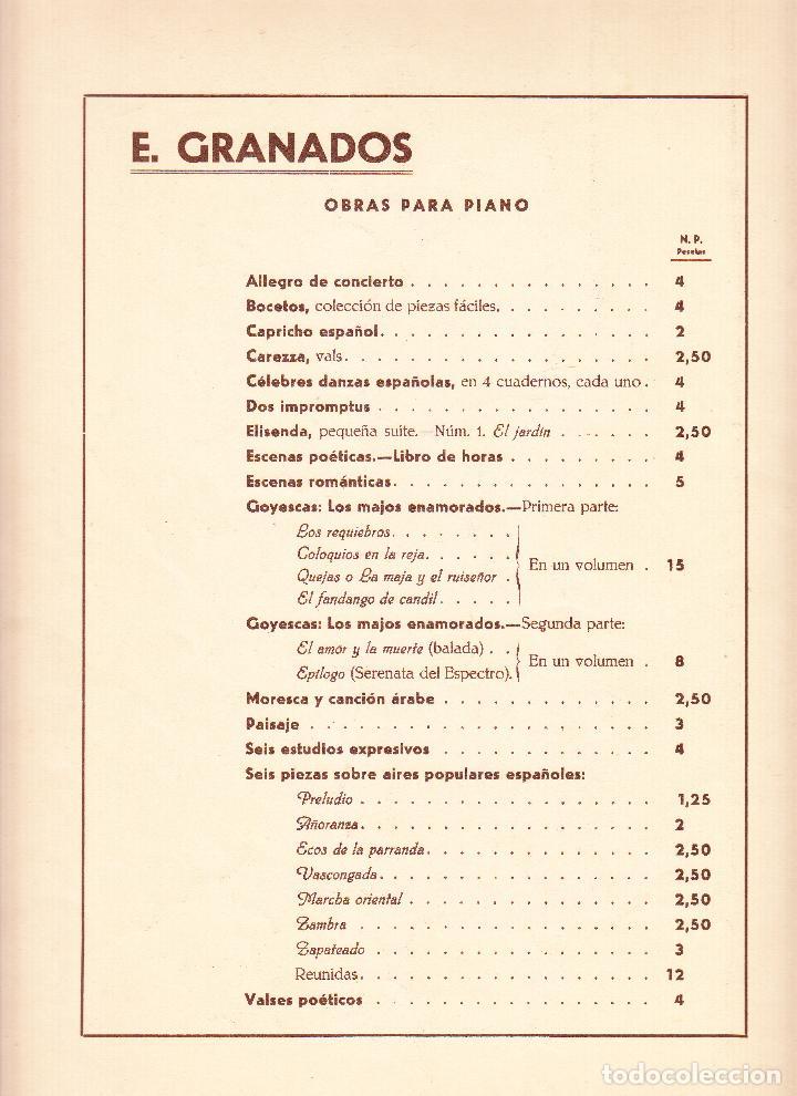 Partituras musicales: E GRANADOS - DANZAS ESPAÑOLAS VOL. II - UNION MUSICAL ESPAÑOLA - Foto 5 - 61929668