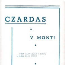Partituras musicales: CZARDAS DE V MONTI - B.2659 VIOLIN Y PIANO - B.2656 PIANO - BOILEAU. Lote 61930880