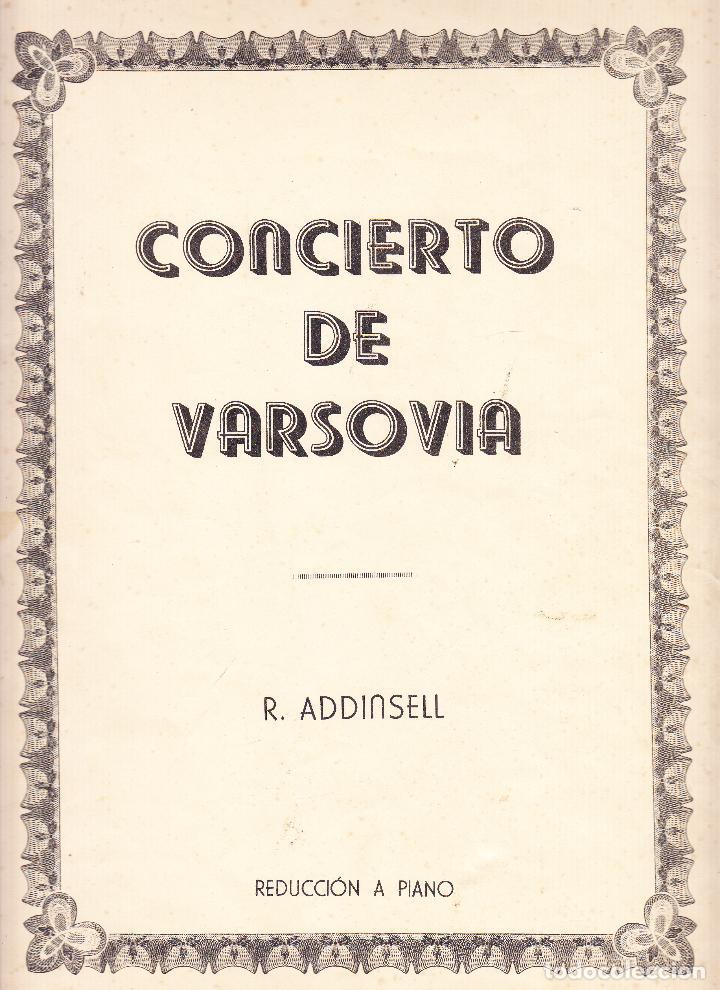 CONCIERTO DE VARSOVIA - R ADDINSELL - REDUCCION A PIANO (Música - Partituras Musicales Antiguas)