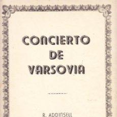 Partituras musicales: CONCIERTO DE VARSOVIA - R ADDINSELL - REDUCCION A PIANO. Lote 61932064