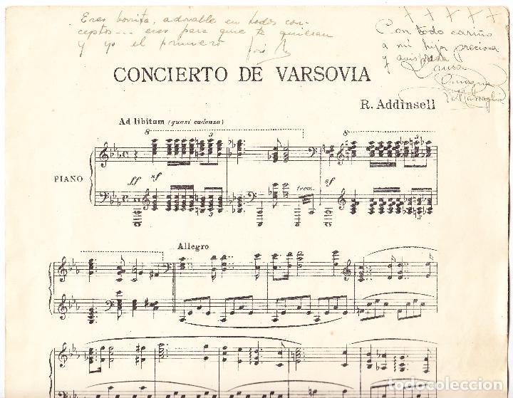Partituras musicales: CONCIERTO DE VARSOVIA - R ADDINSELL - REDUCCION A PIANO - Foto 2 - 61932064