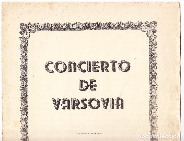 Partituras musicales: CONCIERTO DE VARSOVIA - R ADDINSELL - REDUCCION A PIANO - Foto 5 - 61932064