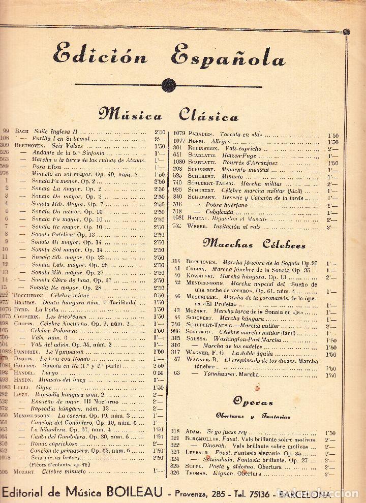 Partituras musicales: EDICIONES IBERICAS - SONATA - BOILEAU - Foto 2 - 61932504