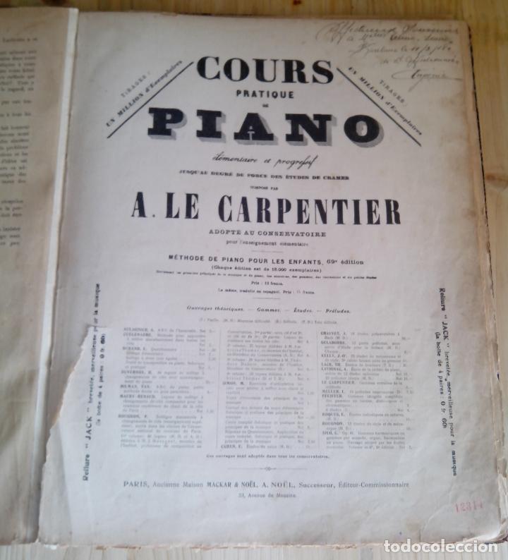 COURS PRATIQUE DE PIANO - ALBERT DE LA GRAVELIERE - A LE CARPENTIER (Música - Partituras Musicales Antiguas)