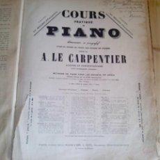 Partituras musicales: COURS PRATIQUE DE PIANO - ALBERT DE LA GRAVELIERE - A LE CARPENTIER. Lote 62334616