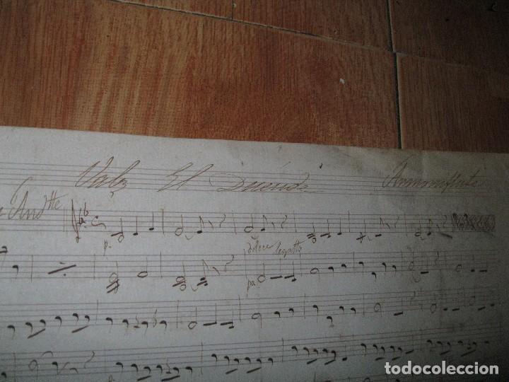 Partituras musicales: PARTITURA MANUSCRITA ANTIGUA EL DUENDE FIRMADA POR FRANCISCO TORRENTE ? CIRCA 1900 - Foto 2 - 62661628