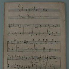 Partituras musicales: ANTIGUA PARTITURA PARA PIANO: EL GUITARRICO – JOTA - PRINCIPIOS AÑOS 1900 - COMPLETA. Lote 78026223